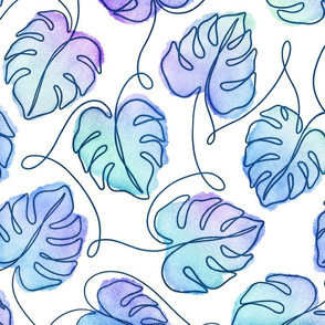 Dreamy Abstract Monstera Leaves