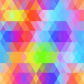 Abstract Geometric pattern with bright colored rhombus. rainbow color