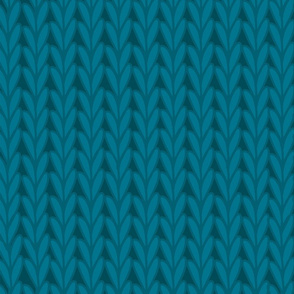 Knitted Stitches in Teal