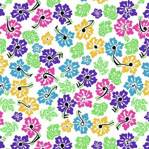 hidden music hibiscus flowers bright