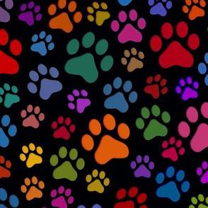 Cat Paws large Black