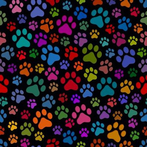 Cat Paws small on Black