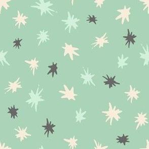 stars on jade green