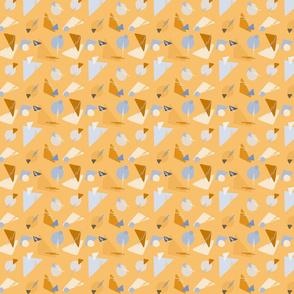 Geometric shapes light orange