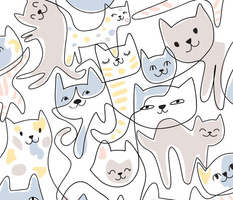 one-line cats - large