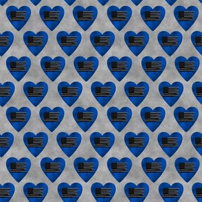 blue awareness hearts with flag small scale