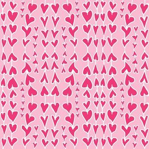 paper valentine hearts chain