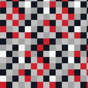 Blocky Gamer Red Black Grey Small-tile