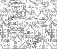 Continuous line houses