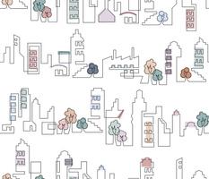 Continuous Line Cityscape