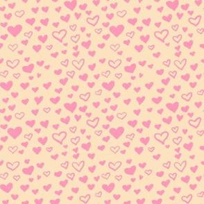 Pink Hearts Cream