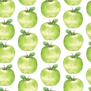 Green Apples on White