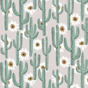 Saguaro Layered Floral - AZ Grey