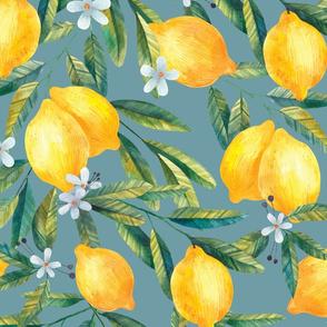 Large Hand-Drawn Lemons