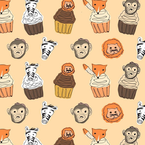Cupcake Animal Buddies