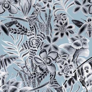 Ze Jungle Wallcovering Blue