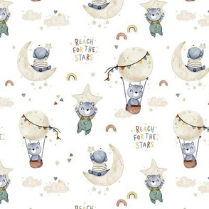 Reach for the stars - white - small