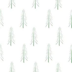 minimalist pines - white