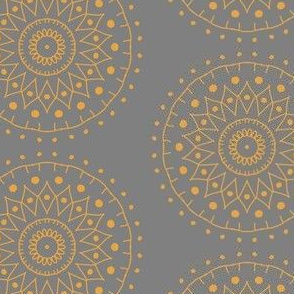 SYM_112_Yellow Mandala on Gray