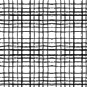 Gingham check - charcoal mirror 775