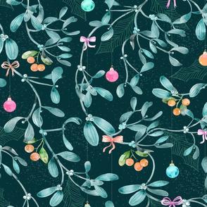 Watercolor Mistletoe