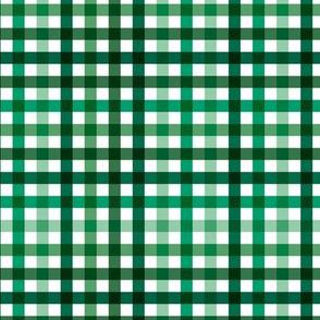 Boho plaid St Patrick's Day Irish green check pattern green SMALL