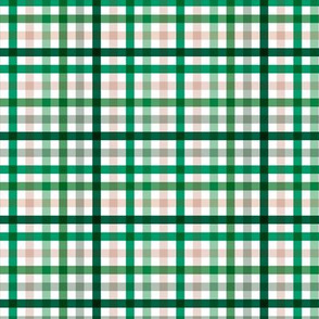 Boho plaid St Patrick's Day Irish green check pattern green SMALL