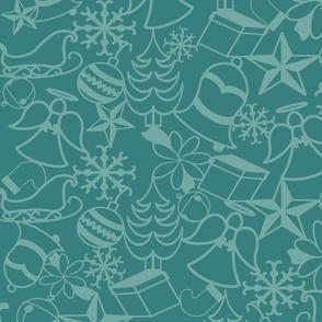 Christmas Memories-Teal