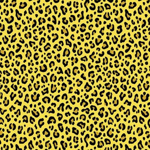 ★ LEOPARD PRINT in ILLUMINATING YELLOW ★ Tiny Scale / Collection : Leopard spots – Punk Rock Animal Print