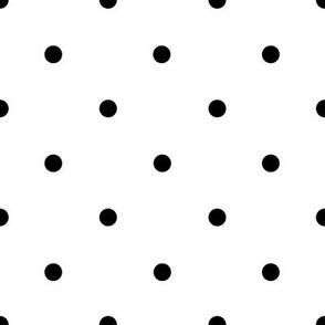 Smaller Black polka dots on White