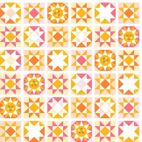 Sunny Quilt Blocks-small scale