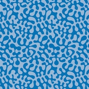 abstract retro groovy  blue abstract // Matisse inspired // Groovy // blue by Magenta Rose Designs
