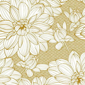 Gold Dahlias