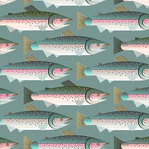 trout fishing - dark