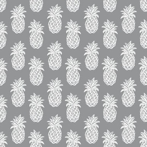 Pineapple  Gray  (ultimate gray) and white