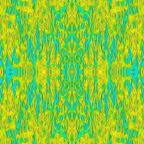 ZBD16 - Rococo Attitude in Aqua Blue and Yellow