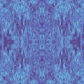 ZBD17  - Rococo Attitude  in Two Tone Blue