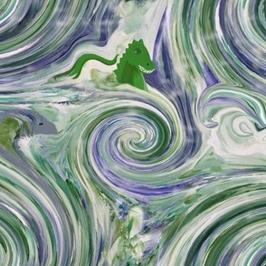 Salty  Sea Dragons - Large - Blue and Green