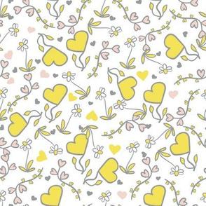 valentine hearts and flowers by rysunki_malunki