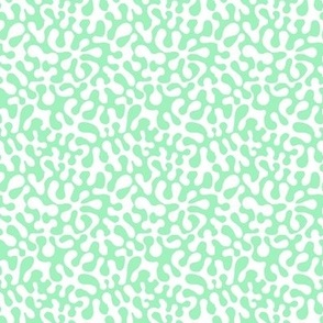 mint abstract retro groovy abstract // Matisse inspired // Groovy  by Magenta Rose Designs