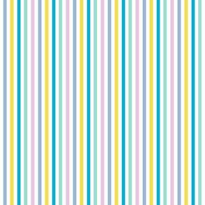 Summer beach stripe in Pantone 2021 colors  // retro stripe fabric and wallpaper