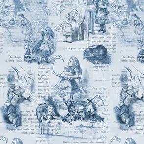 Alice in Wonderland Blue Vintage Book