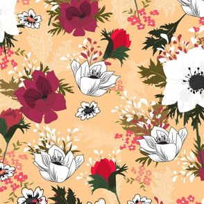 Anemone floral pattern