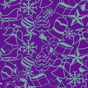 Christmas Memories-Purple