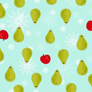 Christmas pear and apple pattern