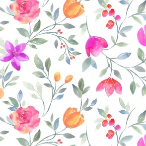 Wallpaper Watercolor Vine Smaller