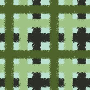 Garden Glam - Green Plaid