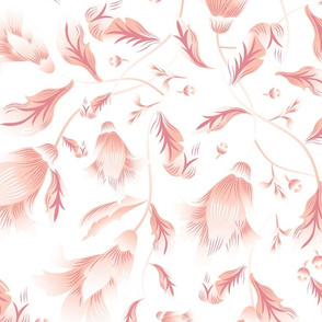 reimagined damask white  and pink flowers