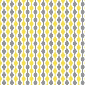 Retro yellow and grey