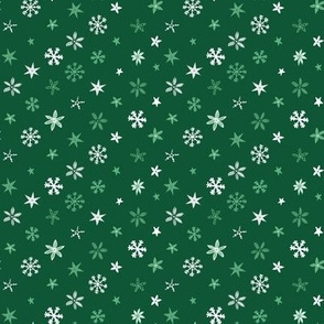 Christmas Stars - Forest green